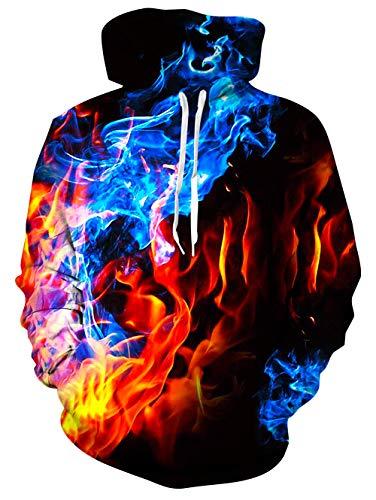 uideazone Uniesx - Sudadera con capucha con impresión 3D, divertida sudadera con capucha para hombre y mujer, con bolsillos grandes Rota. M