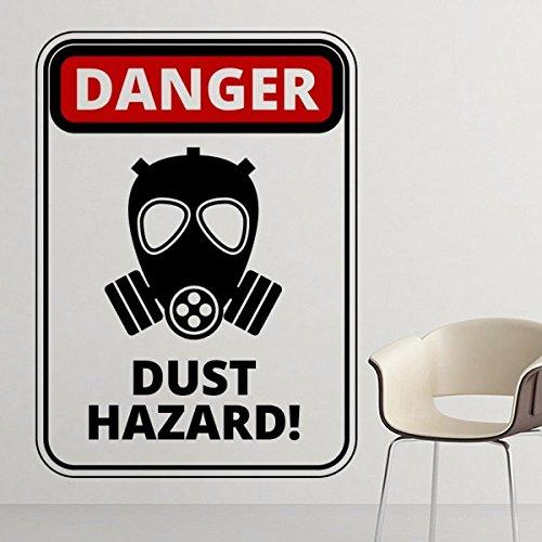 Gevaar Symbool Luchtverontreiniging Stof Gevaar Gas Masker Waarschuwing Tekenen illustratie Haze PM2.5 Milieubescherming Onderwerpen Verwijderbare Muursticker Art Decals Mural DIY Behang voor Room Decal 20cm