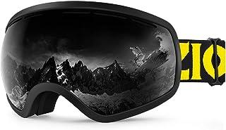 23084e256d Zionor X10 Ski Snowboard Snow Goggles OTG for Men Women Youth Anti-Fog UV  Protection
