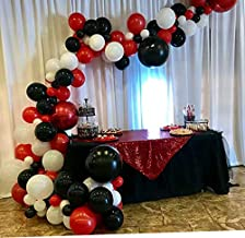 Red Black White Balloons Garland Arch Kit Birthday Party Balloon Decorations Bidal Baby Shower Balloons Weeding Bachelorette Party Backdrop