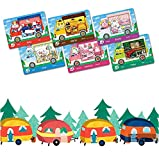 6pcs Animal Crossing New Horizons ACNH Sanrio Mini Card, Villager Furniture Outfits Compatible with Switch/Switch Lite/New 3DS- Rilla, Marty, étoile, Chai, Chelsea, Toby (Mini Cards)