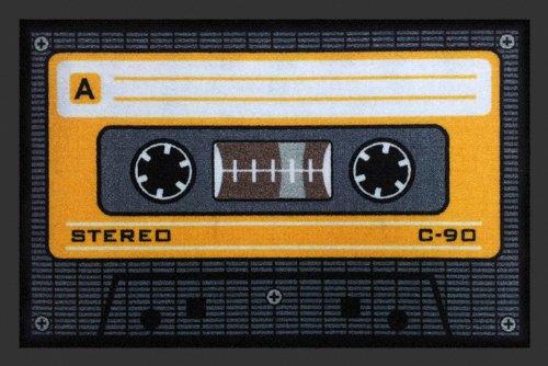 Fussmatte Tape Orange Kassette Fußmatte Cassette Schmutzmatte Türabstreifer Türmatte Fußabstreifer Schmutzfangmatte