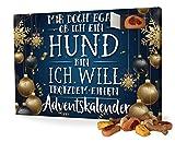 printplanet Hunde-Adventskalender mit Leckerlis - Motiv Mir doch egal - Weihnachtskalender für Hunde - 2019