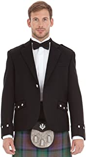 Kilt Society Mens Scottish Black Argyll Kilt Jacket