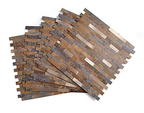 Azulejos de piedra para despegar y pegar, de PVC y pizarra, azulejos para cocina, despegar y pegar (11.5