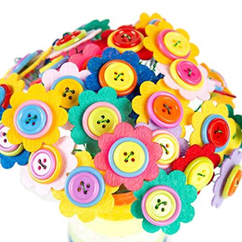 Ramos de tela de flores falsas para niños y niñas de jardín de infancia hecho a mano rompecabezas DIY material ramo