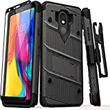 ZIZO Bolt Series for LG Stylo 5 Case Military Grade Drop Tested with Full Glass Screen Protector Holster and Kickstand Gun Metal Gray