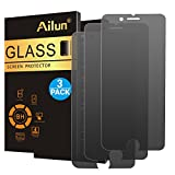 Ailun Privacy Screen Protector Compatible for iPhone 8 7 3Pack Anti Spy Anti Glare Japanese Glass 0.25mm Tempered Glass [black]