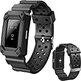 Lwsengme X4-TECH Classic Fitness Replacement Accessories Wrist Band Compatible with Fitbit Charge 2 HR (New-Black)