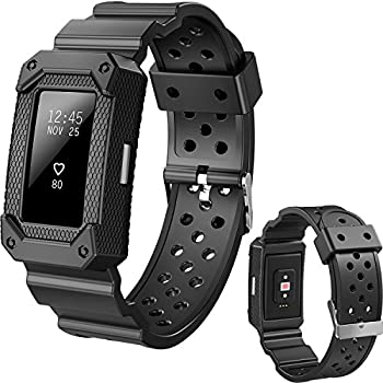 Lwsengme X4-TECH Classic Fitness Replacement Accessories Wrist Band Compatible with Fitbit Charge 2 HR  New-Black