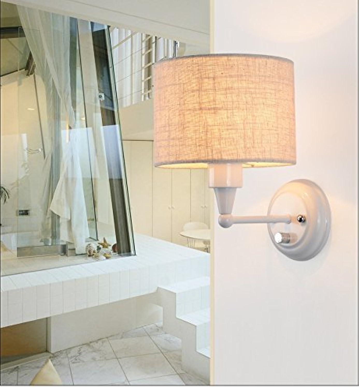 ZHANG NAN ●   Moderne Minimalistische Mode Nordic Wandleuchten Wohnzimmer Schlafzimmer Leinen Kreative Warme Nachttischlampe Nachttischlampe (Farbe    2) ●