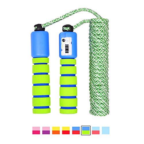 LAKIND Springseil Speed Rope mit Zähler Und Komfortablen & Anti-Rutsch Griffen für Fitness und Boxen (Grün)