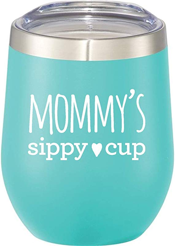 Mom Tumbler Mommy S Sippy Cup 12 Oz Stainless Steel Stemless Wine Tumbler With Lid Wine Tumbler Sippy Cup For Moms