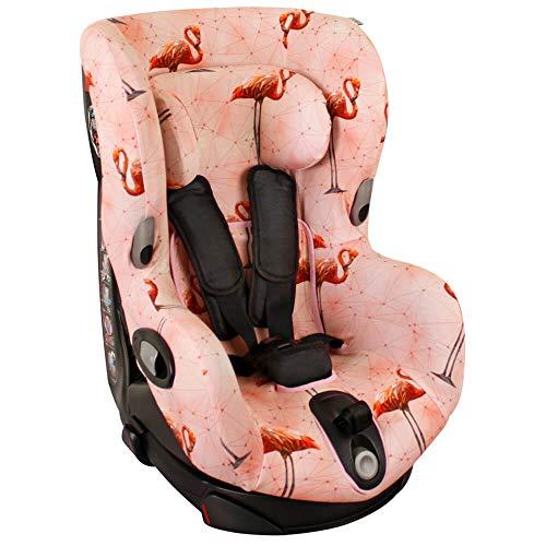 Bezug Maxi-Cosi Axiss Kindersitz Rosa Flamingo Schweißabsorbierend und weich für Ihr Kind Schützt vor Verschleiß und Abnutzung Öko-Tex 100 Baumwolle
