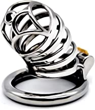 Male Hypoallergenic Metal Chasteness Device Stainless Steel Protector for Men Beginners Shirt a74 (Size : 45mm)