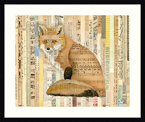 Framed Wall Art Print Red Fox Collage II by Nikki Galapon 30.12 x 25.38 in.