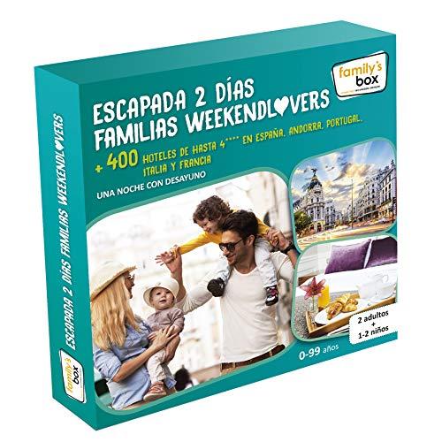Cofre DE EXPERIENCIAS ESCAPADA 2 DÍAS FAMILIAS WEEKENDLOVERS - Más de 400 escapadas de una Noche en España, Andorra, Portugal, Italia y Francia