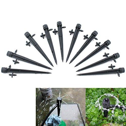 Pattonjioe 10PCS Flusso D' Acqua Regolabile Gocciolatori Irrigazione Irrigatore Emitter Drip System