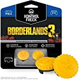 KontrolFreek Borderlands 3 Claptrap Performance Thumbsticks for PlayStation 4 (PS4) and PlayStation 5 (PS5) | 2 Mid-Rise Convex Thumbsticks | Yellow