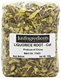 JustIngredients Essential Fragments de racine de réglisse (Liquorice Root cut) 100g - Lot de 5