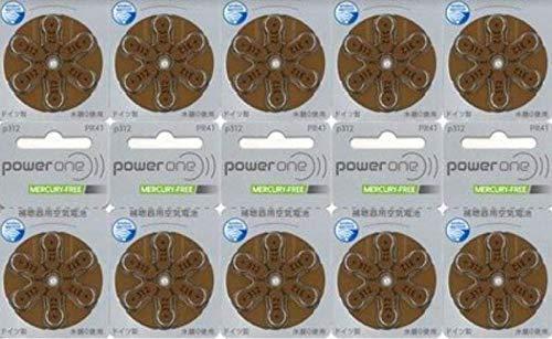 パワーワン 補聴器用 空気電池 PR41(312) 6粒×10シートセット