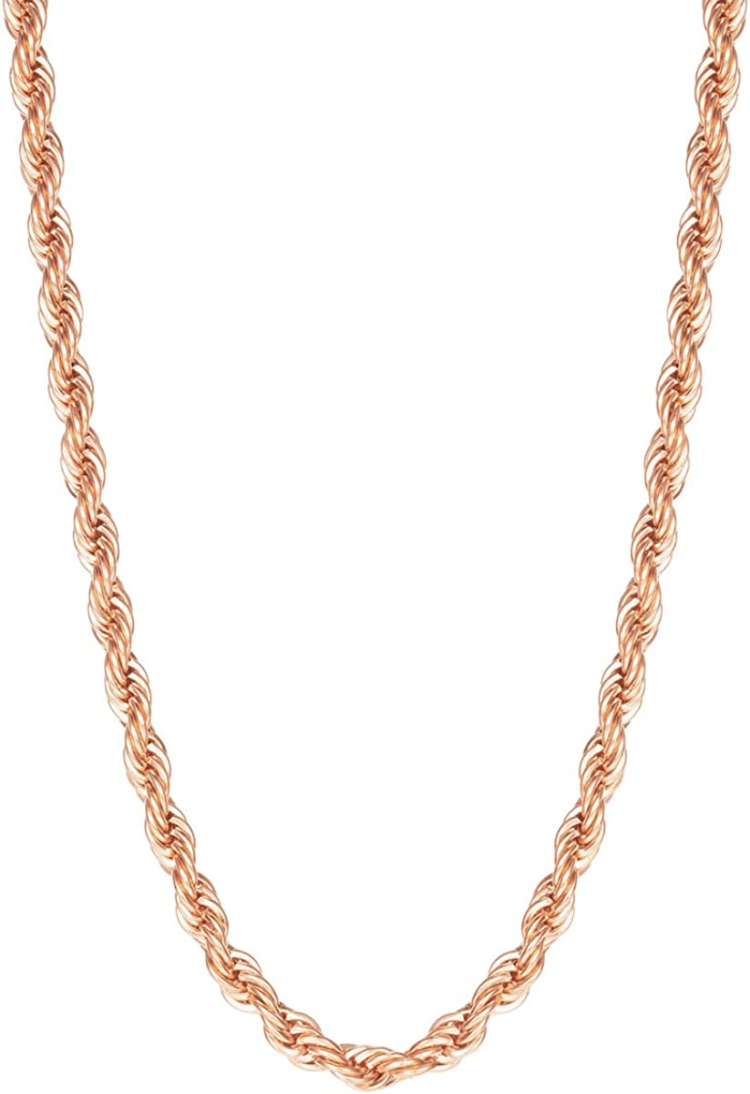 Direct sale of manufacturer Happiness New item Boutique Women Twisted Rope Rose Necklace Chain Gold P