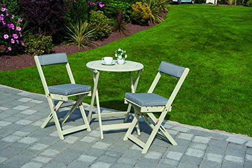 Greenhurst Wooden Raffles Foldable Bistro Set