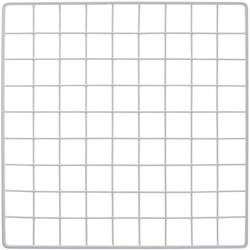 "Mini White Grid Panel 14"" W x 14"" H 1.5"" Squares Grid Panel Vinyl Dipped White"