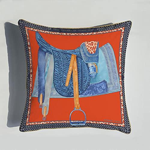 WSZMD Luz De Alta Gama De Lujo De Impresión Digital Cojín De La Serie Naranja Sala De Estar Sofá Asiento De Cama Decoración De La Almohada,B-45 * 45cm