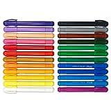 Richgv Crayones para Niños Pequeños, 24 Colores Surtidos Crayones Seguro y No Tóxico, Ceras para Colorear, Lápices de Pintura Lavables Juguetes, Utiles Escolares, Regalo de Los Niños (24 Colores)