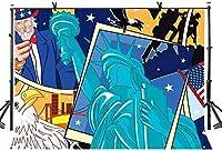 HD 7X5ftコミック背景さまざまなアメリカの要素コミック写真の背景アートスタジオの背景小道具抽象芸術壁画LYP163