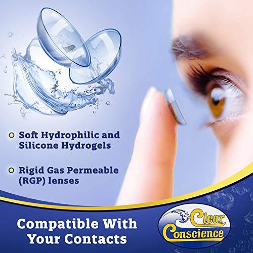 Clear Conscience Mehrzwecklösung für Kontaktlinsenflüssigkeit, 85 ml - 3