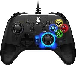 GameSir T4w Mando con USB Cable, Controlador Gamepad Translúcido para Juegos para Windows PC / Ordenador
