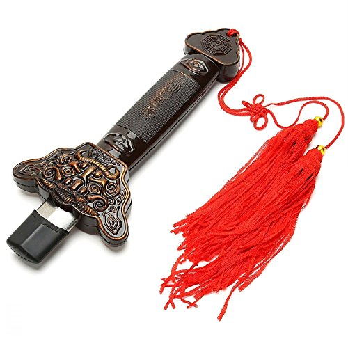 KierHunter Retractable Sword, Tai Chi Kung Fu Martial Arts Magic Sword for Exercises Performance Halloween (Stainless Steel)