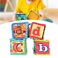 ソフトガラガラブロック、素敵な外観ソフトブロックおもちゃ内蔵サウンドペーパー安定していて、赤ちゃんのための遊びのための4個で耐久性があります(Type A 1 set of 4 prices)