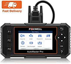 FOXWELL NT614 Elite Car OBD2 Scanner Diagnostic Tool Transmission Engine ABS Airbag Code Reader EPB Scan Tool with Maintenance Light Reset Free Carrying Case (NT614 Enhanced Version)