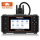 FOXWELL NT614 Elite Car OBD2 Scanner Parking Brake/Transmission/ABS/Airbag/Check Engine Diagnostic Tool with EPB/Service Due Reset for All Cars(Carrying Case Included)