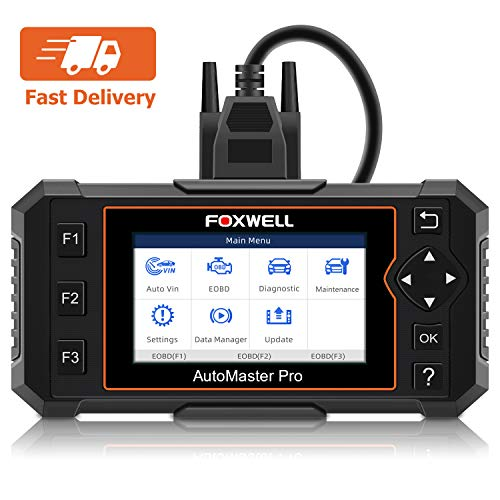 FOXWELL NT614 Elite Car OBD2 Scanner Diagnostic Tool Transmission Engine ABS Airbag Code Reader EPB Scan Tool with Maintenance Light Reset Free Carrying Case for BMW Dodge Chevy Ford All Car Makes