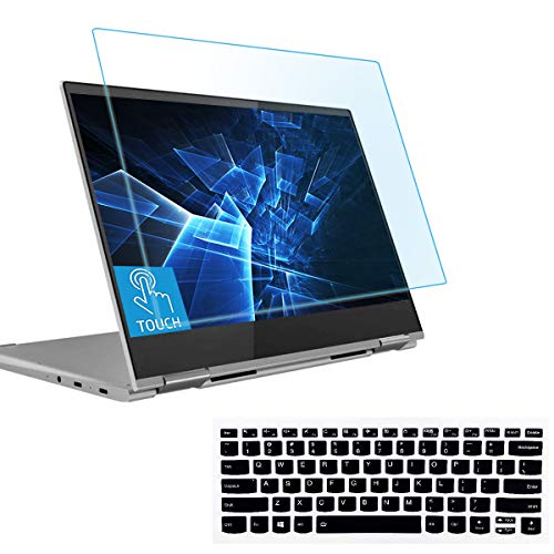 """MUBUY AntiBlueLight Anti Glare Screen Protector Fit 13.9"""" Lenovo Yoga 930 C930 2-in-1 Touch-Screen Laptop with Gift Keyboard Cover, Eyes Protection Filter Block UV and Reduce Fingerprint"""