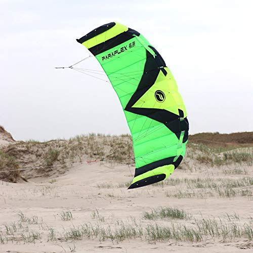 Paraflex Sport 2.3 Lenkmatte - Cometa de hilos tipo parapente, color verde/amarillo/negro