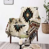 Y-PLWOMEN Throw Blanket for Couch Bed ,50'x70' Southwestern Woven Tassels Bed Throw Boho Decor Cozy Reversible Throw Blanket Multi-Function for Couch Sofa Bed Livingroom Outdoor Beach Travel Camping