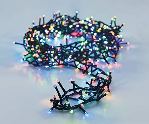LED Lichterkette mit 1500 LED - bunt/mehrfarbig - mit Speicherchip und 8 Funktionen - für Innen und Außen