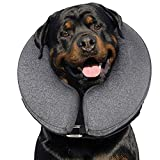 MIDOG Pet Inflatable Collar for After Surgery,Soft Protective Recovery Collar Cone for Dogs and Cats to Prevent Pets from Touching Stitches, Wounds and Rashes (X-Large(Neck:19'-25'))