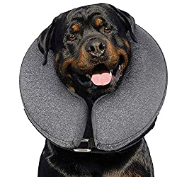 MIDOG Pet Inflatable Collar for After Surgery,Soft Protective Recovery Collar Large Dog Cone for Dogs to Prevent from Touching Stitches, Wounds and Rashes