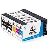 Mipelo Kompatibler Ersatz für Canon PGI-1500 PGI-1500XL Hohe Kapazität Druckerpatrone - 5 Pack Gilt für Canon Maxify MB2050 MB2350 MB2750 MB2150 MB2755 MB2155 Drucker