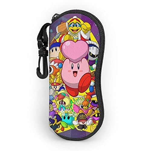Étuis à Lunettes Kirby Star of Allies Sac Souple pour Lunettes de Soleil de Voyage Portables, étui de Protection pour boîte à Lunettes à Fermeture éclair Ultra légère
