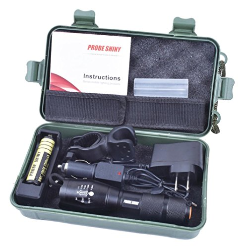 Flashlight, FAMILIZO Brillante 5000LM X800 CREE T6 LED Linterna Lámpara G700 Light +18650 Batería + Cargador + Caso