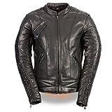 Milwaukee Leather MLL2570 Ladies Phoenix Embroidered Black Leather MC Jacket - Large