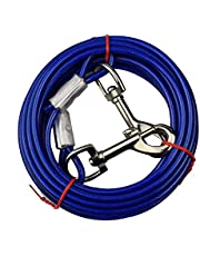 WENTS Dog Tie-out Cable Medium Small Size Puppy Dog Tie out Cable Perro Mascota Jardín Tie Cable de Salida de Suelo Espiral Tornillo Juego Alambre Plomo