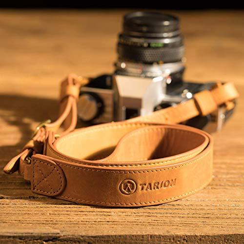 TARION TNS-L2カメラストラップ 本革 ショルダー ストラップ ヴィンテージ 長さ調節可 レザーカメラショルダーストラップ リング式 ミラーレスカメラ/レンジファインダーカメラに対応